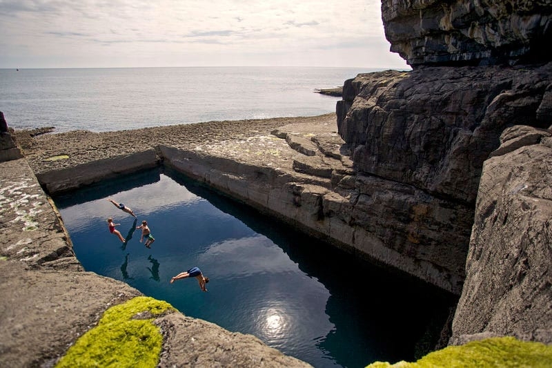 The worm hole swimming pool on Inis Mor