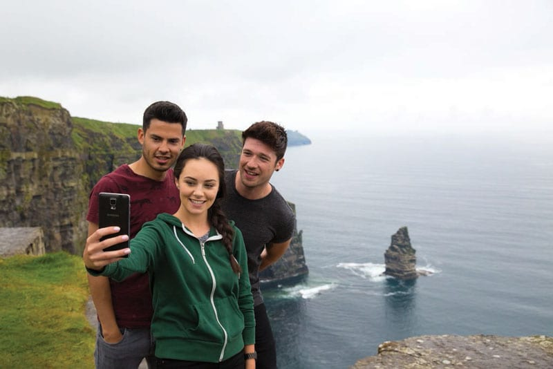 selfie at Cliffs of Moher