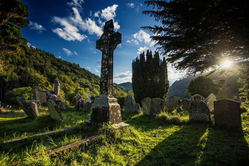 Celtic Cross in Glendalough