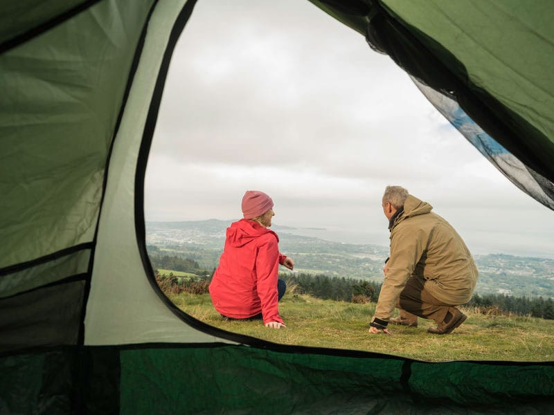 Camping in the Wicklow mountains