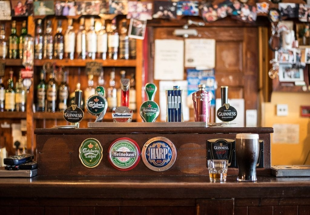 Dublin Pubs with fire places