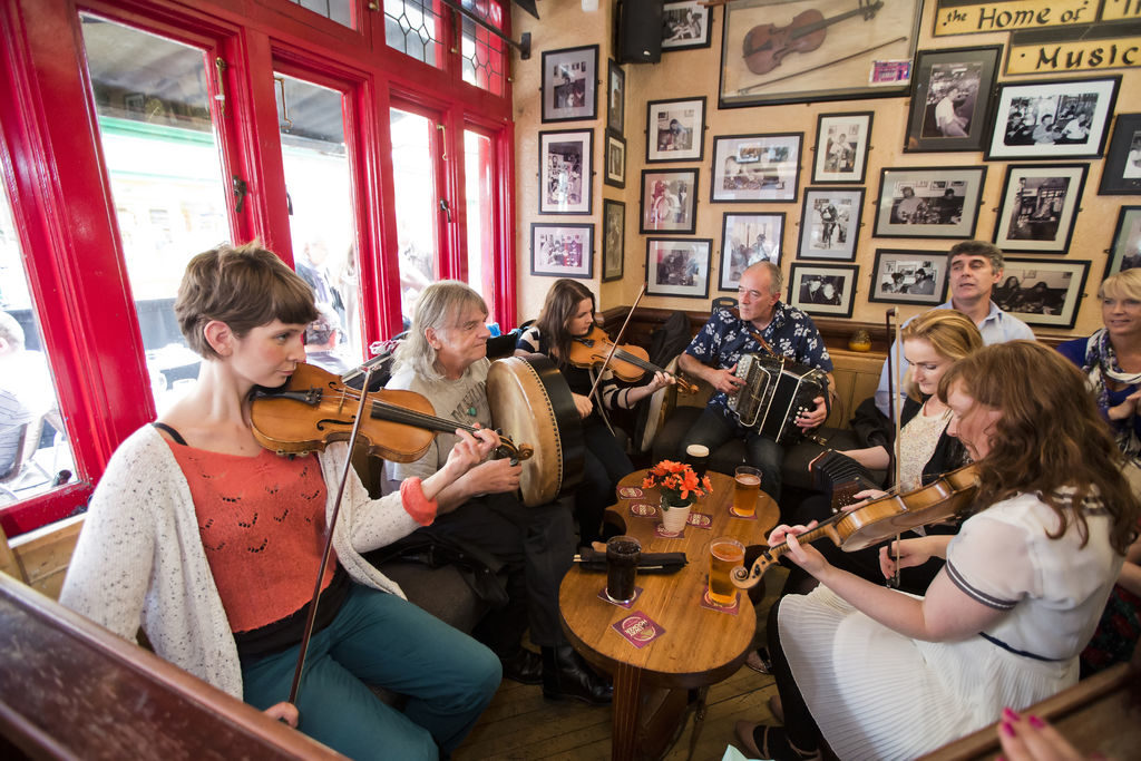 Trad session in Galway