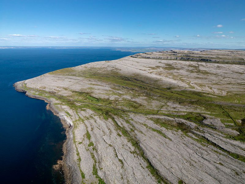 The Burren National Park aerial view