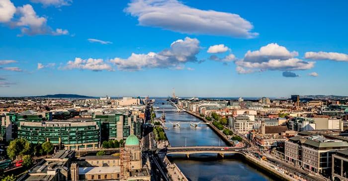 Dublin City from the sky