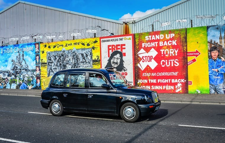 belfast black taxi tour
