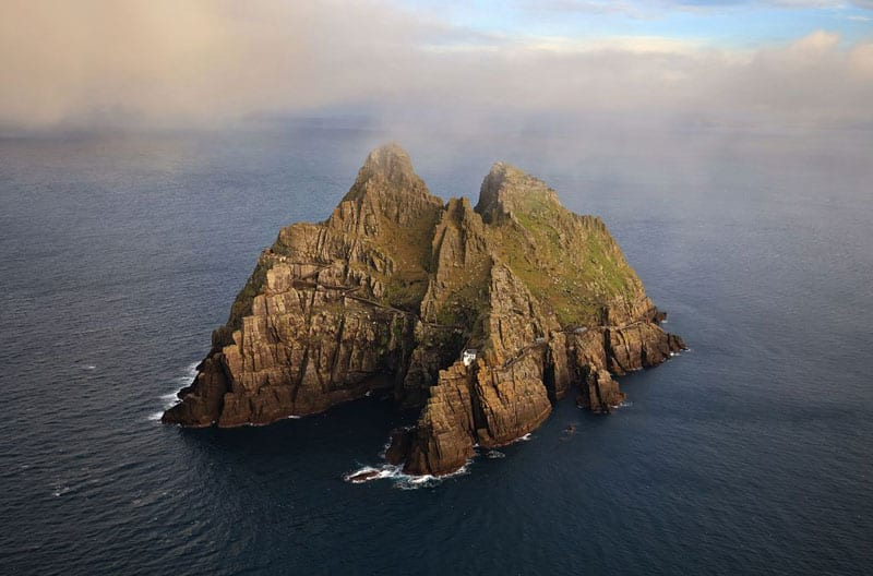 Aerial Shot of Skellig Michael