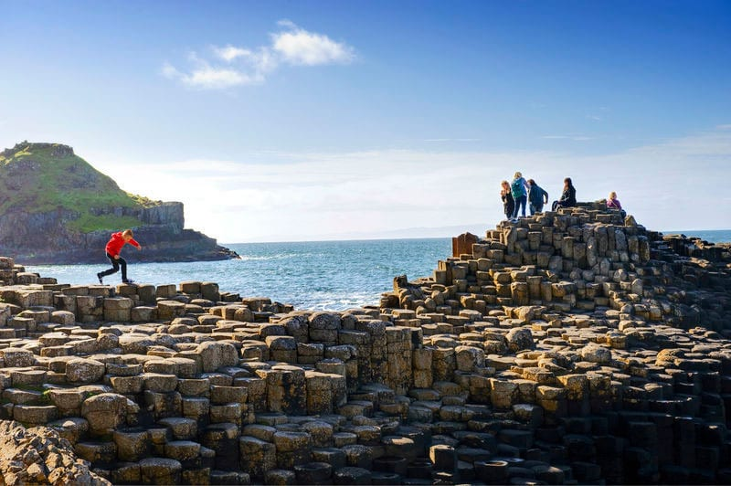 Children on the Giant's Causeway